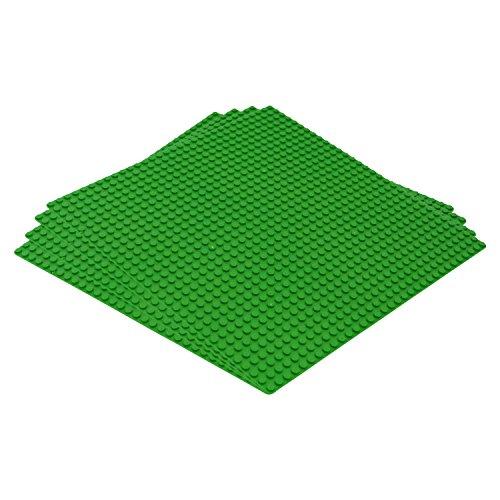 Katara 1672 - Bauplatten 4er Set 100% Kompatibel Lego, Sluban, Papimax, Q-Bricks, 25,5cm x 25,5cm/32x32 Pins, Grün