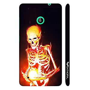 Nokia Lumia 530 Magic by Skeleton on Fire designer mobile hard shell case by Enthopia