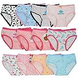 Kidear Série Enfants Culotte Culotte Culotte Enfant 12 Pièces sous-vêtements en Coton Doux pour Tout-Petit, âgés de 2 à 10 Ans