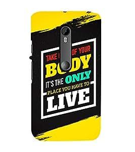 FUSON Take Care Of Body 3D Hard Polycarbonate Designer Back Case Cover for Motorola Moto G Turbo Edition :: Virat FanBox Moto G Turbo Virat Kohli