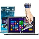 SmartGlaze ( Pack Of 10 ) ASUS N551JQ 15.6 Laptop Protectores de pantalla del caso por encargo Crystal Clear LCD de Premium Packs Con paño de pulido y de Aplicación