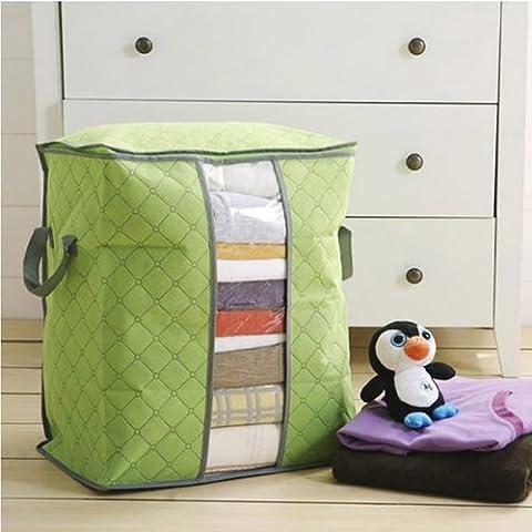 HuaYang Home manta colcha ropa almacenamiento cremallera bolsa caso Caja de contenedor (verde)