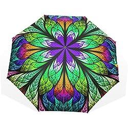 Paraguas Flor fractal Grande