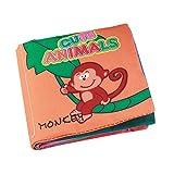YeahiBaby Tuch Bücher Weicher Baby Intelligenz Entwicklung Early Learning Spielzeug (Animal)