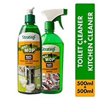Herbal Strategi Toilet Cleaner 500ml, Kitchen Cleaner Spray 500ml (Pack of 2)