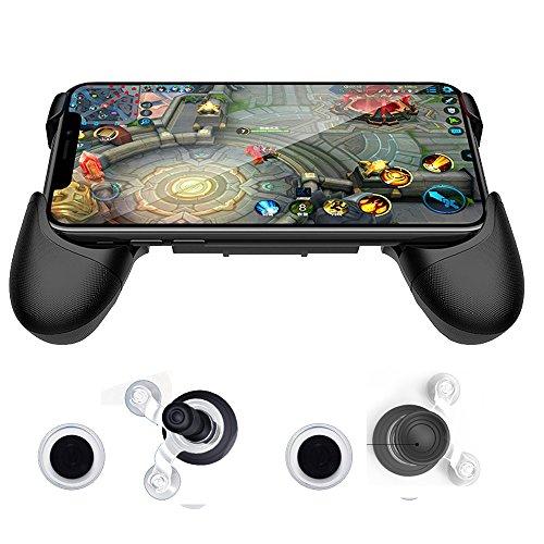 Für Gta Handy (sunchi Universal Mobile Game Joystick Spiral Mini Joystick Spiel Griff Grip Controller Rocker Joypad Faltbarer Ständer Halter für Handys (Griff Halter))