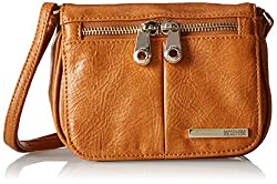 Kenneth Cole Sm Flap Crossbody Womens Handbag (Saddle) (183962)