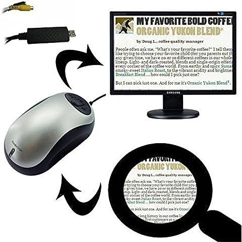 Koolertron Lupa Digital Electrónico para la televisión y el ordenador: Visual / Aide lectura