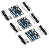 3-Achsen-Beschleunigungssensor GY-521 MPU-6050 von Gikfun, Gyroskop-Modul 6 DOF, 6-Achsen-Beschleunigungssensor, Gyroskop-Sensormodul für Arduino (3er Pack) EK1091x3U