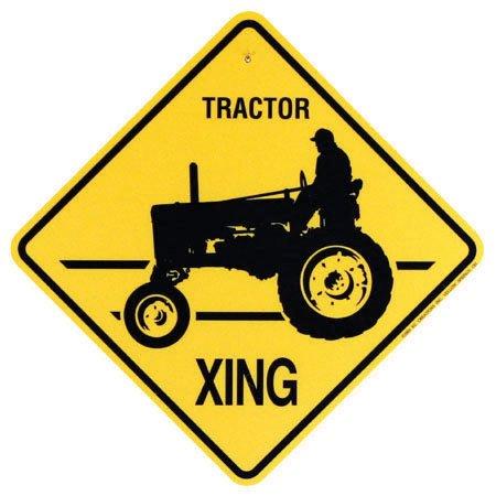 Traktor CROSSING SIGN NEW Xing Farmer Fall Farmall -
