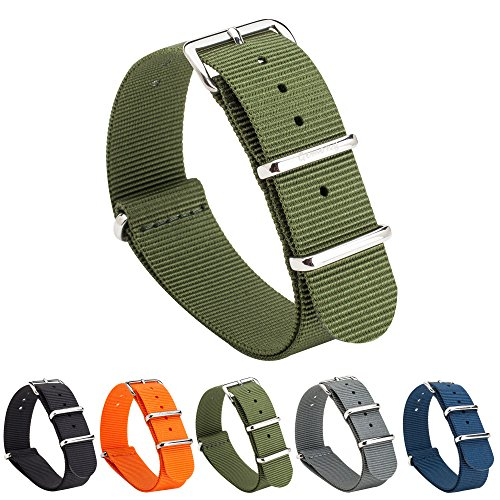 Gemony NATO Armband Premium Ballistic Unisex Nylon Uhrenarmband 18mm/20mm/22mm (WB-102, 20MM) (Armband Timex 20mm)