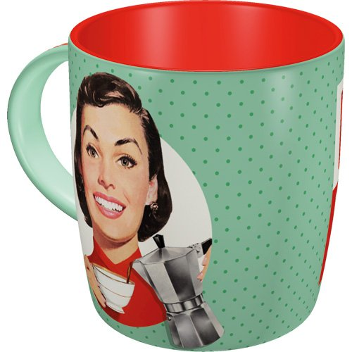 Nostalgic-Art 43031 Say IT 50's - Espresso Yourself | Retro Tasse mit Sprüchen | Kaffee-Becher |...