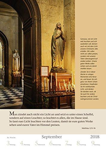 Mit Gott durch das Jahr - Kalender 2018 - Harenberg-Verlag - Wochenkalendarium - 54 Blatt mit Zitaten- Wandkalender - 25 cm x 35,5 cm - 5
