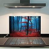 DAMU | Ceranfeldabdeckung 1 Teilig 80x52 cm Herdabdeckplatten aus Glas Natur Rot Blau Elektroherd Induktion Herdschutz Spritzschutz Glasplatte Schneidebrett