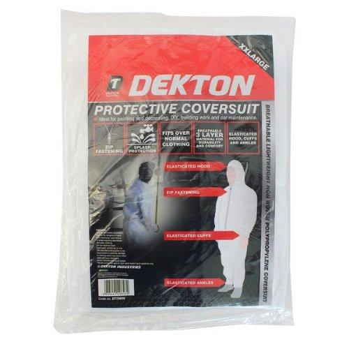 Dekton DT70805protettiva copertura tuta, nero/rosso, 2x -large