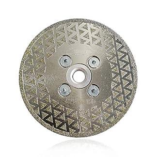 SHDIATOOL Disco Diamante 115mm Electrochapado Hoja de Sierra para Corte y Esmerilado Piedra Granito Mármol Azulejo