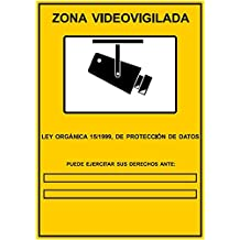 Cartel de cámaras de seguridad CCTV LOPD