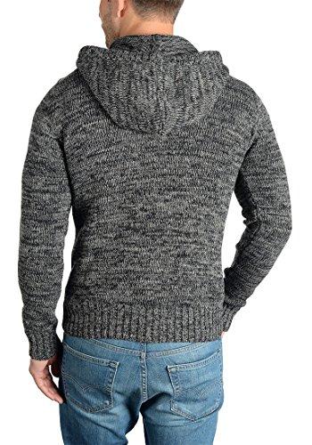 SOLID Pierrot Herren Strickjacke Cardigan aus 100% Baumwolle Meliert Black (9000)