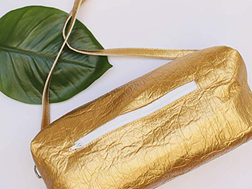 Goldene Tasche aus Piñatex® - vegane Ananasfaser - 6