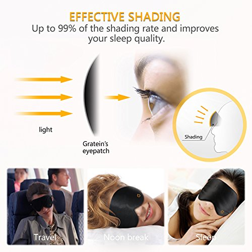 Antifaces Máscara para Dormir con tapón de oído y ajustable