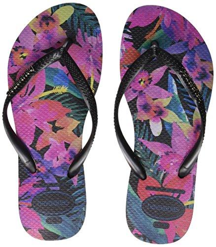 Havaianas-Slim-Tropical-Chanclas-Mujer-Multicolor-Black-0090-4142-EU-3940-Brazilian