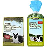 ZuPreem Nature's Promise Premium Adult Rabbits Food Made In USA - 2.26 Kg With ZuPreem Nature's Promise Hay Natural High Fiber Treat For Small Animals - 397 Gm By Pawsitively Pet Care
