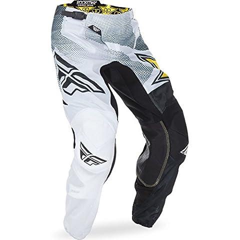 370-33932 - Fly Racing 2017 Kinetic Mesh Rockstar Motocross Pants 32 White Black