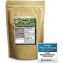Nurafit Gerstengras Pulver BIO - in Deutschland angebaut, verarbeitet und BIO zertifiziert - 500g / 0.5kg zertifizierte Spitzenqualität – Für leckere Smoothies während Deiner Detox Smoothie Kur