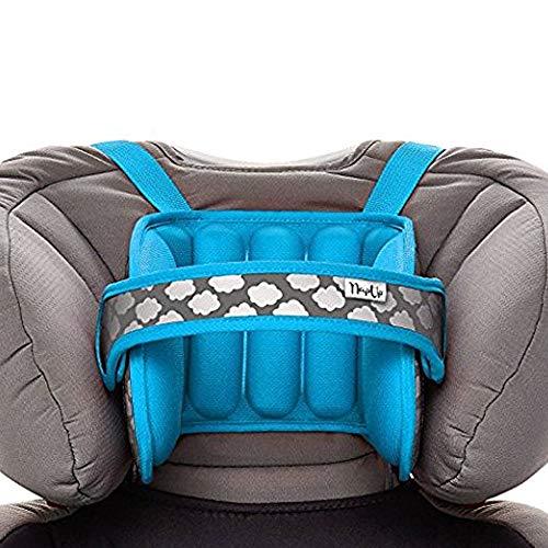 Sujeta cabezas NapUp niños para coches - Una solución cómoda y segura para dormir (Azul)