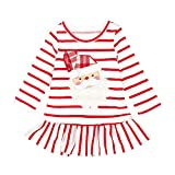 JiaMeng Kleinkind Kinder Baby Mädchen Striped Princess Dress Outfits Weihnachtskleid Cyber Monday 2018