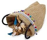 All for Paws Geflochtenes Katzenspielzeug & Katzensack Whisker Fiesta mit Mega Knistereffekt