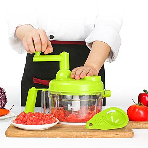 Tenta Küche 800ml Hand Kurbel Manuelle Lebensmittel Chopper / Fleischwolf / Gemüse...