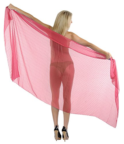 La Leela leichte Chiffon Frauenbadebekleidung wickeln Rayon 80x44 Zoll rosa vertuschen (Maxi-kleid Wickeln)
