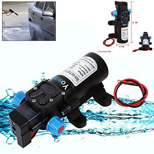DC12V 5L/Min 115PSI Hochdruck Membran Automatisch Water Pumpe Wasserpumpe 60W