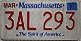 USA Nummernschild MASSACHUSETTS ~ US Kennzeichen Spirit of America ~ Blechschild