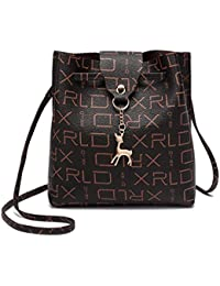 Women Embossing Print Shoulder Bag Crossbody Bag Messenger Bag Phone Bag Coin Bag (A)