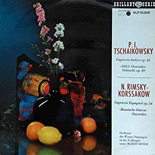 Pyotr Ilyich Tchaikovsky , Nikolai Rimsky-Korsakov , Orchester Der Wiener Staatsoper In Der Volksoper , Mario Rossi - Capriccio Italien / Capriccio Espagnol - Metronome - HLP 10 029