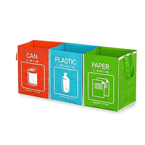 Papelera reciclaje con 3cestas