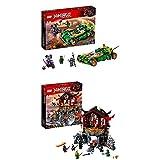 Lego Ninjago 70641 - Lloyds Nachtflitzer, Unterhaltungsspielzeug + Tempel der Auferstehung, Bauspielzeug