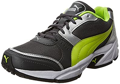 Puma Men's Argus DP Asphalt, Safety Yellow and Puma Silver Running Shoes - 10 UK/India (44.5 EU) (18837709)