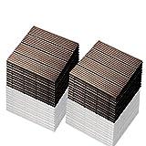 SIENOC 22 Stück/ca. 2m² Terrassen-Fliese aus WPC Kunststoff, 22er Spar Set für 2 m², Garten-Fliese, Balkon Bodenbelag mit Drainage Unterkonstruktion 30x30cm (22x Neu Hellbraun 300 * 300 * 22mm)