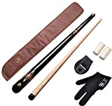 #8: LGB Combo 16(American pool cue metal joint 12mm,black cue cover,glove,chalk holder n two tip caps)