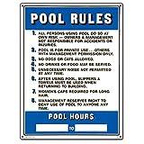 Poolmaster 40322Kommerzieller Schild POOL RULES für privaten, oder Pools