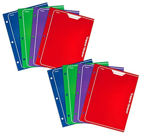 mead-trapper-keeper-2-pocket-portfolio-12-x-938-x-12-inches-assorted-pack-of-8-73043-by-mead