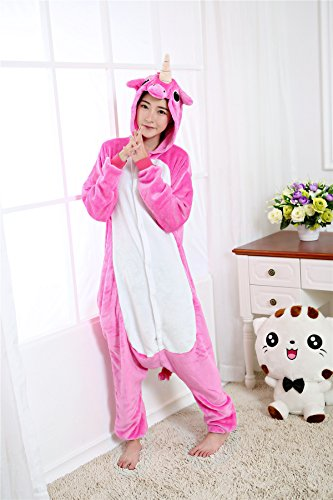 Kenmont Unicorno Pigiama Adulto Animale Cosplay Carnevale Halloween Costume Attrezzatura Animali Unisex Rose