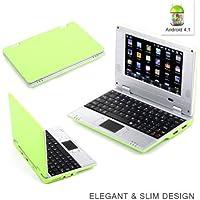 """Grandorient 7""""inch última Android 4.1Jellybean Mini ordenador portátil PC portátil Netbook WiFi Mejor Regalo Para Los Niños verde 7 pulgadas"""
