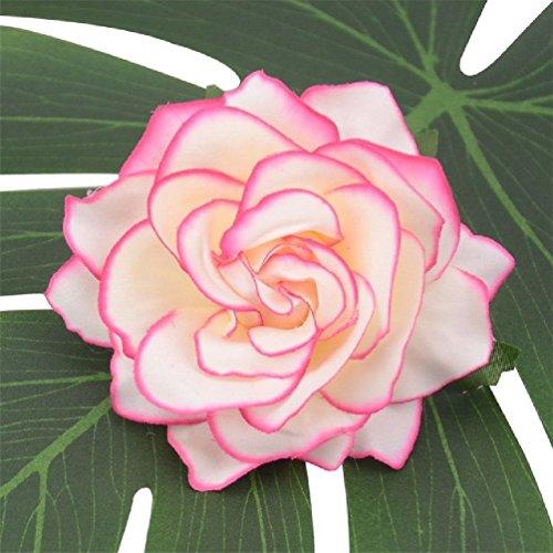 Suyunyuan Flowers 10010cm große künstliche Rose Seide Blume Köpfe für Hochzeit Dekoration DIY Kranz Geschenk-Box Scrapbooking Craft Fake Blumen, Seide, Gradient Pink, Einheitsgröße