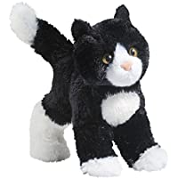 Cuddle Toys 4092 20 cm Long Snippy Black and White Cat Plush Toy