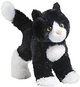 Cuddle Toys Peluche 4092 de potrillo Corredor Blanco y Negro, Fabricado en Felpa (20 cm)