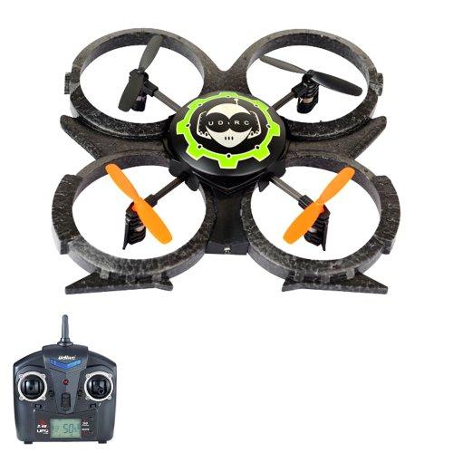 Preisvergleich Produktbild 4.5 Kanal RC ferngesteuerter Quadcopter, UFO-Modell mit 2 x Akku und Ersatzteil-Set, Modell-Drone für 3D-Flug, Ready-to-Fly Hubschrauber Modellbau, Heli-Modell, Neu